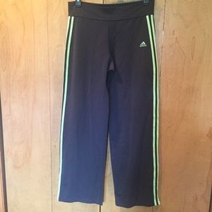 XL Adidas Old School track pants in Black/green